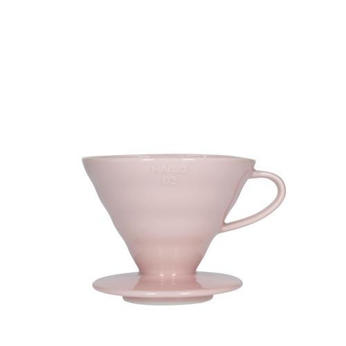 Hario V60 keramisk kaffebrygger Pink 02
