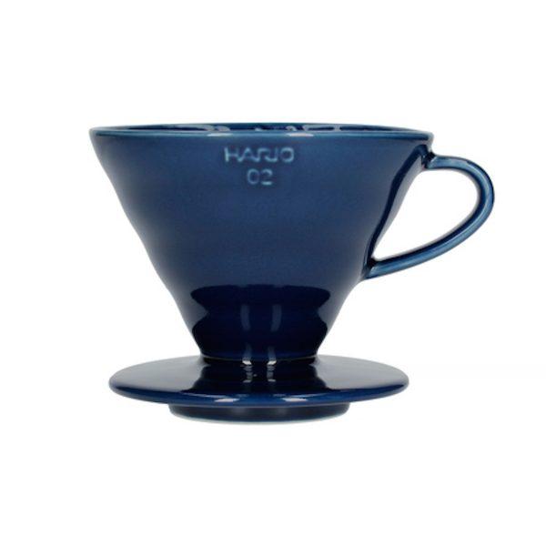 Hario V60 keramisk kaffebrygger Indigo Blå 02